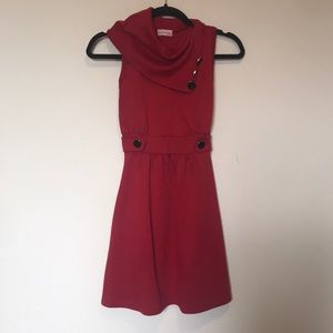 EUC red Modcloth dress with pockets